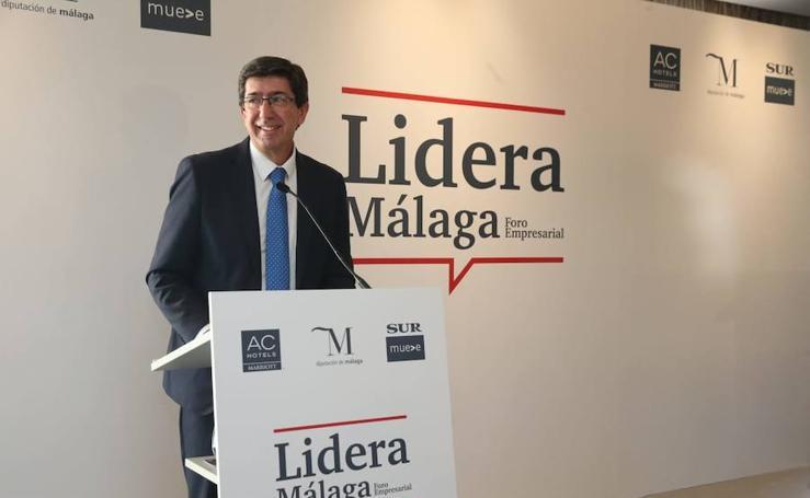 Juan Marín, en el Foro Lidera Málaga
