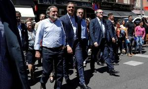 Sánchez se incorpora a la campaña con los candidatos de Madrid