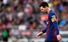 La tristeza de Messi preocupa en un Barça deprimido