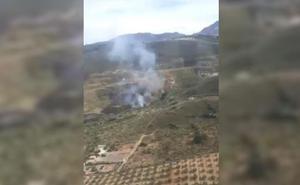 Estabilizado el incendio forestal declarado en un paraje de Antequera