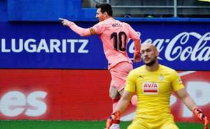 El Eibar contiene a un Barça que sigue tocado