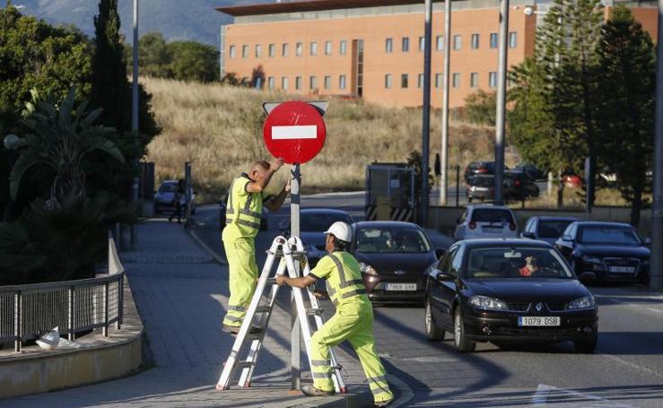 Primer día de las nuevas medidas de tráfico adoptadas para agilizar el acceso al PTA