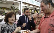 Carmen Calvo irrumpe en campaña para apoyar a Dani Pérez: «Tiene un plan viable y moderno»