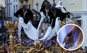 Dañan la imagen del Cristo del Santo Traslado con pintura negra