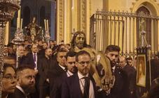 Retiran la pintada del brazo del Cristo del Santo Traslado para que vuelva al culto
