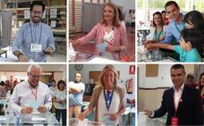Los candidatos al Ayuntamiento de Marbella votan con llamamientos a la participación