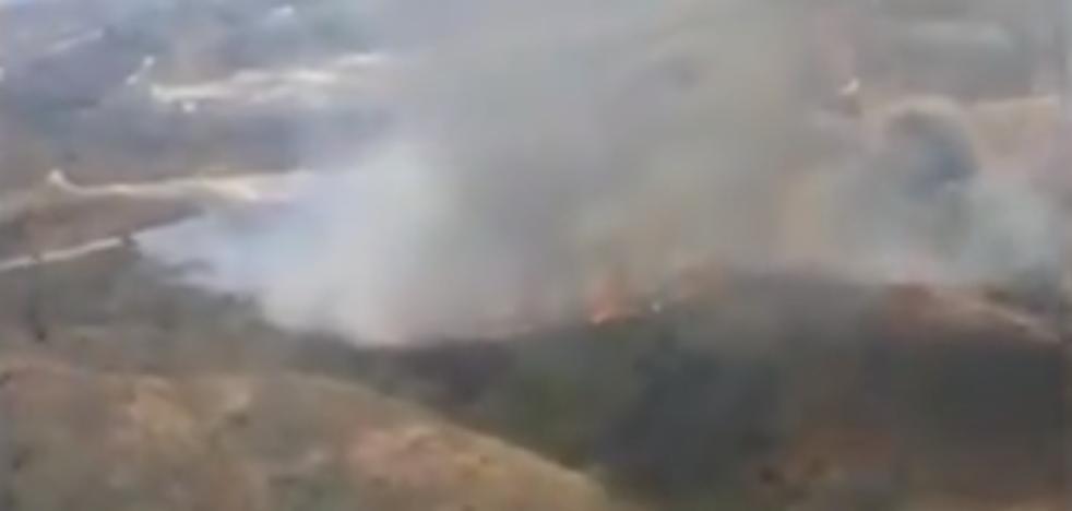 Extingido el incendio forestal en el paraje de Entrerríos de Mijas
