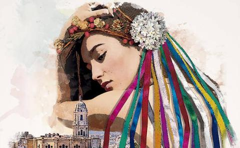 'La diosa Málaga', elegido cartel anunciador de la Feria de Málaga 2019