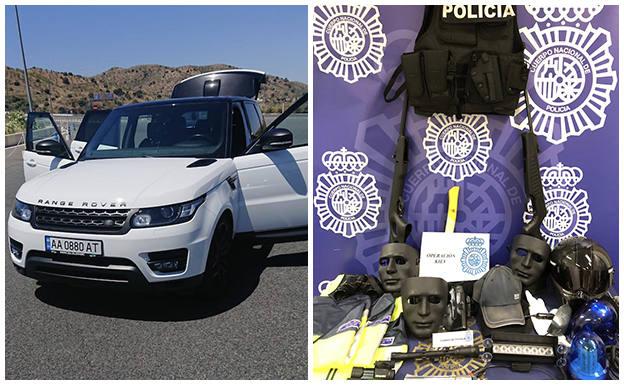 Robo de coches de lujo en menos de 60 segundos: golpe al crimen organizado en Málaga