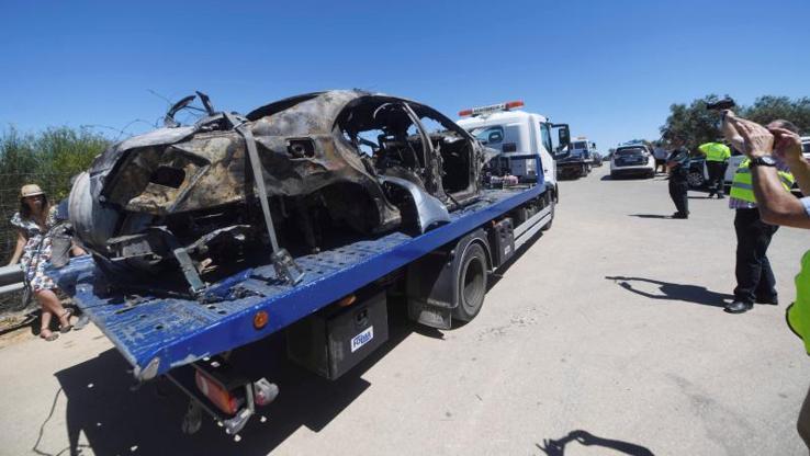 Así quedó el coche de Reyes tras su accidente mortal