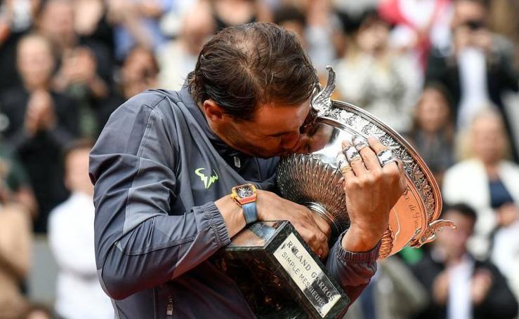 La celebración del duodécimo Roland Garros de Rafa Nadal, en imágenes
