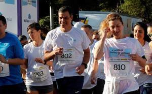 Sánchez corre contra la violencia de género