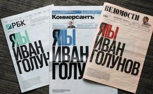 La detención de un periodista ruso acusado de traficar con drogas moviliza a sus compañeros
