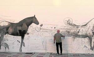 El mural que se chocó contra un muro en Estepona
