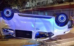 Cuatro heridos tras chocar un coche y una furgoneta en Torre del Mar