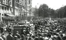 La procesión del Corpus en Málaga de los años 40 a los 70