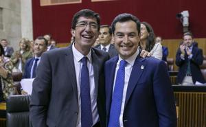 Moreno: «Hoy ha ganado Andalucía con un salto adelante muy importante para su estabilidad»