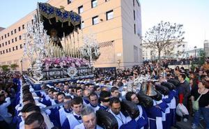 Cuatro procesiones recorren este fin de semana las calles de Málaga