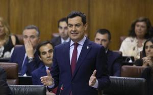 Moreno exhibe en el Parlamento la solidez del Gobierno PP-Cs tras el espaldarazo presupuestario de Vox hasta 2020
