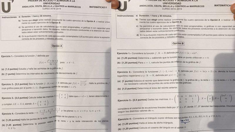 Alumnos andaluces recogen más de 7.700 firmas para impugnar el examen de Matemáticas de Selectividad