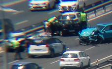 Un accidente múltiple en la MA-20 provoca retenciones a la altura del Palacio de Ferias