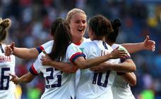Estados Unidos vence a Chile y ya espera rival en los octavos de final