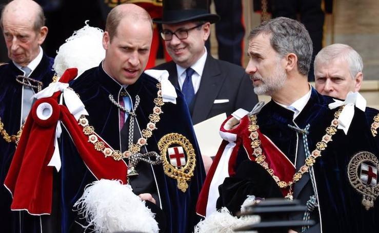 Felipe VI, investido por Isabel II con la máxima distinción del Reino Unido