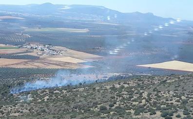 Extinguido el incendio forestal del paraje Los Carvajales de Mollina