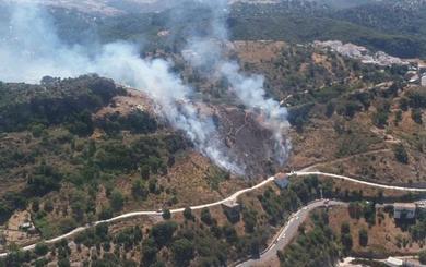 Controlado el incendio declarado en el paraje Camino de las Viñas de Casares