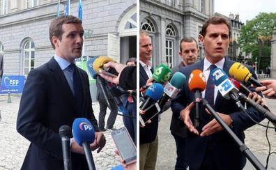 Casado y Rivera niegan su apoyo a la investidura de Sánchez por sus pactos en Navarra