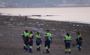Limasa retira 20 toneladas de basura de las playas tras la Noche de San Juan