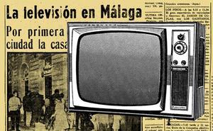 Sesenta años de aquella primera emisión de televisión en Málaga en un escaparate
