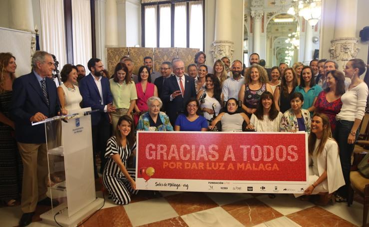Entrega de la recaudación del festival 'Soles de Málaga'