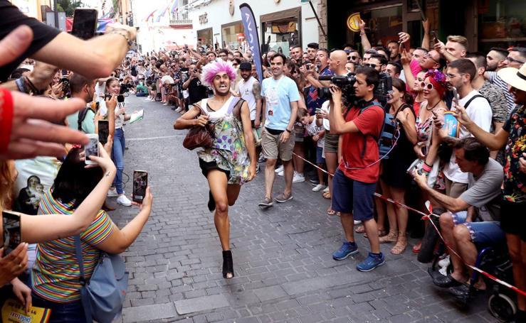 El Orgullo celebra su 21ª edición de la Carrera de Tacones en Madrid