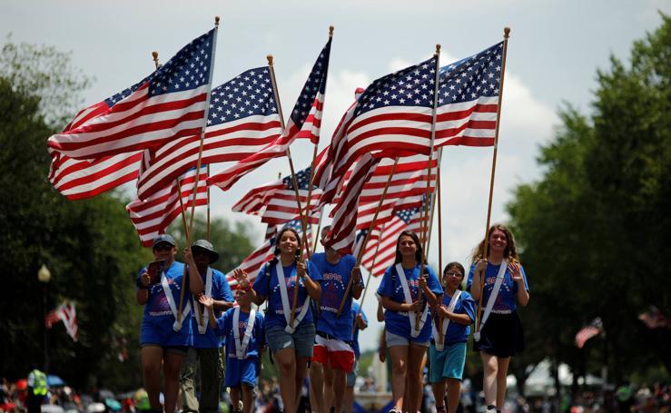 Se celebra la fiesta del 4 de Julio, el Día de la Independencia de EE. UU.