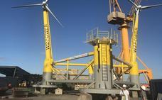 Una empresa malagueña prueba un prototipo pionero de generador eólico marino