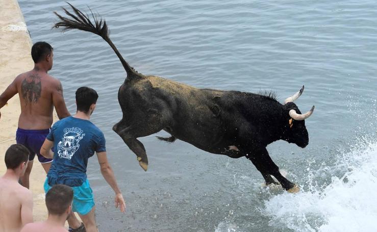 Arrancan los saltos de «Bous a la mar»