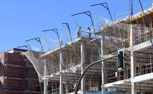 La construcción de viviendas se frena en Málaga