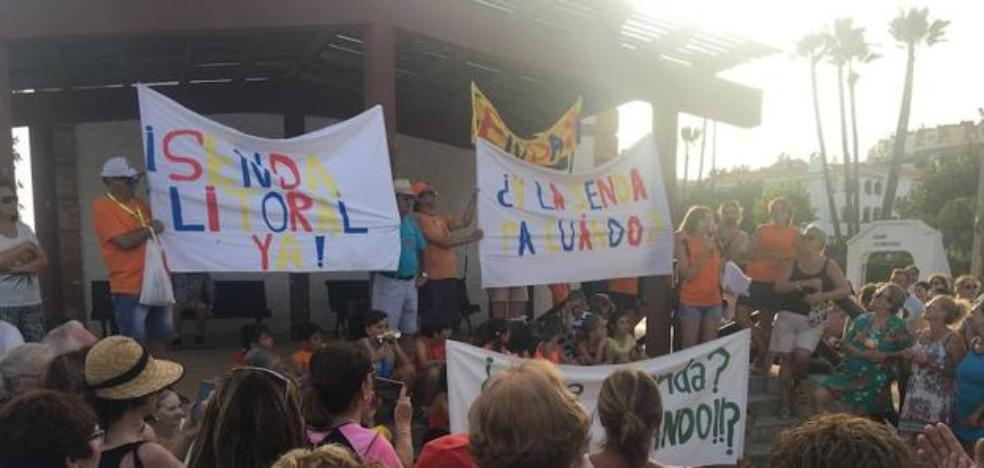 Neighbors of Benajarafe and Chilches call a protest for the delay in the execution of the Litoral Path