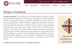 Las cofradías de Málaga ponen en marcha un buzón de quejas y sugerencias