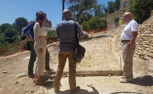 La recuperación del camino del Arrabal finalizará tras el verano