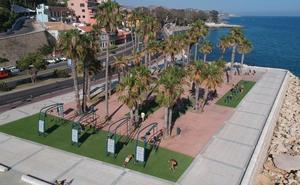 El paseo marítimo Pablo Ruiz Picasso estrena en el Morlaco un novedoso parque deportivo de 'Street Workout'
