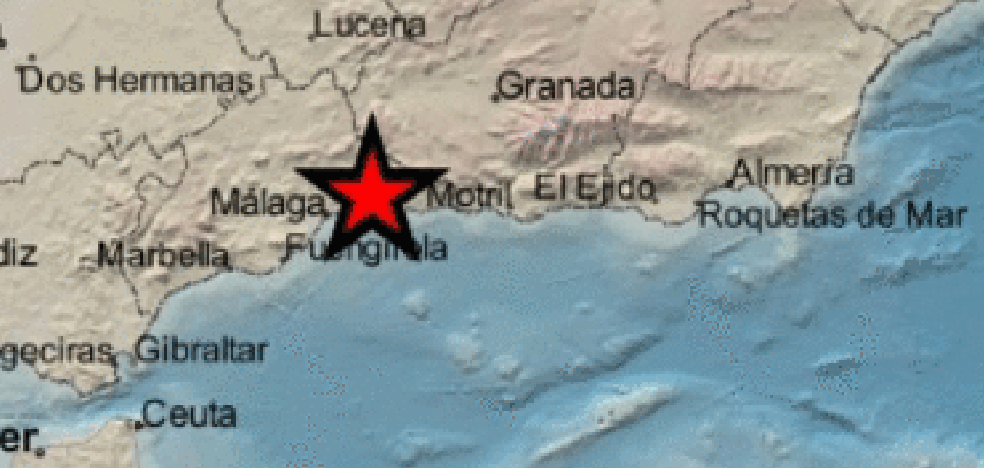 Registered a grade 3 earthquake in Almáchar