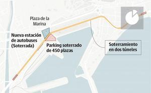 Estudios municipales avalan el soterramiento de todo el eje litoral en el Centro de Málaga
