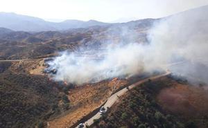 Controlado el incendio en un paraje de Mijas