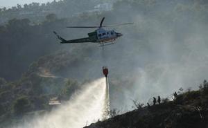 Estabilizado un incendio forestal declarado en un paraje de Málaga capital