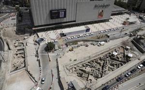 Cultura determinará esta semana qué hacer con los restos arqueológicos del metro en El Corte Inglés