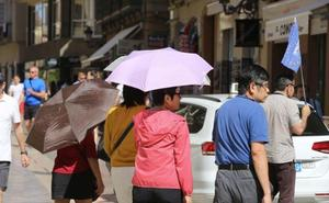 Málaga alcanza los 39 grados con el terral y las temperaturas bajan hoy