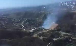 Extinguido el incendio declarado este lunes en el paraje Atalaya de Mijas