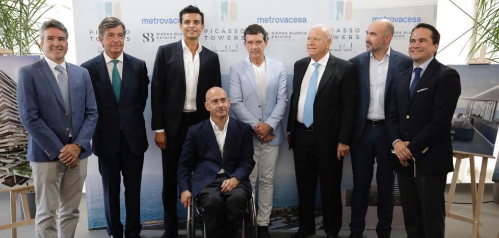 Antonio Banderas apadrina las viviendas de lujo Picasso Towers